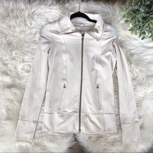 White Lululemon Athletic Compression Jacket